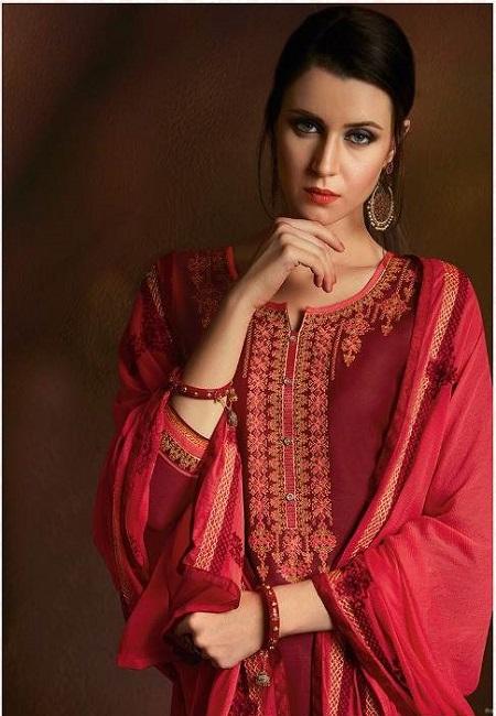 Maroon Color Designer Salwar Patiala Set (She Salwar 514)