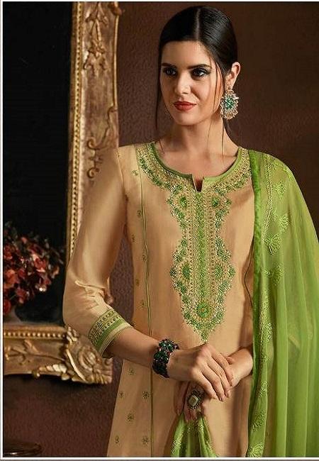 Beige Color Designer Salwar Patiala Set (She Salwar 515)