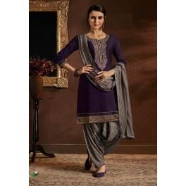Deep Purple Color Designer Salwar Patiala Set (She Salwar 516)