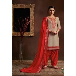 Beige Color Designer Salwar Patiala Set (She Salwar 517)