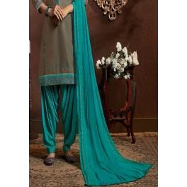 Grey Color Designer Salwar Patiala Set (She Salwar 518)