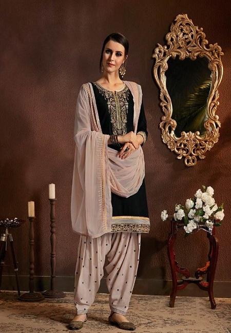 Black Color Designer Salwar Patiala Set (She Salwar 520)