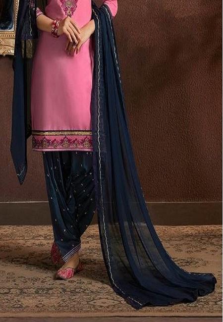 Pink Color Designer Salwar Patiala Set (She Salwar 521)