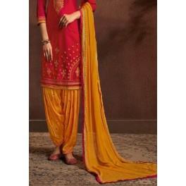 Fuchsia Color Designer Salwar Patiala Set (She Salwar 522)