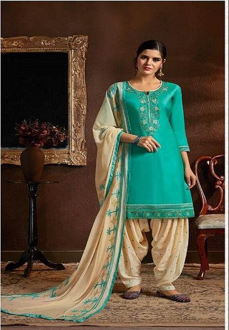 Teal Green Designer Salwar Patiala Set (She Salwar 523)