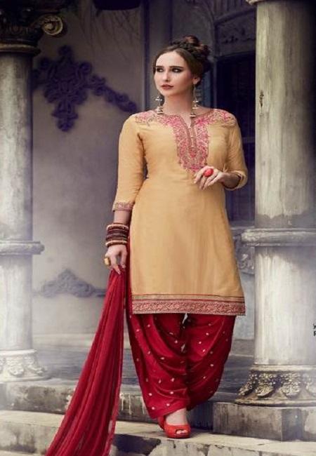 Beige Color Designer Salwar Patiala Set (She Salwar 501)