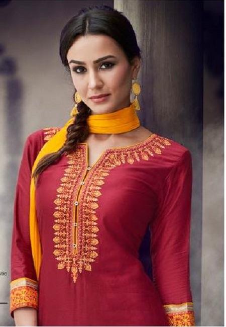 Maroon Color Designer Salwar Patiyala Set (She Salwar 502)
