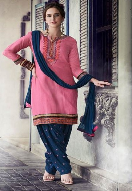 Pink Color Designer Salwar Patiala Set (She Salwar 503)