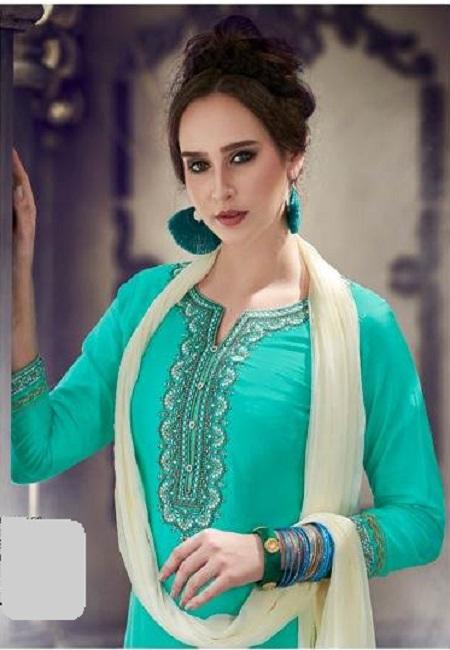 Sea Green Color Designer Salwar Patiala Set (She Salwar 505)