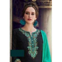 Deep Bottle Green Color Designer Salwar Patiala Set (She Salwar 507)