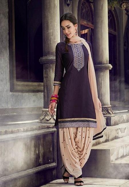 Purple Color Designer Salwar Patiala Set (She Salwar 510)