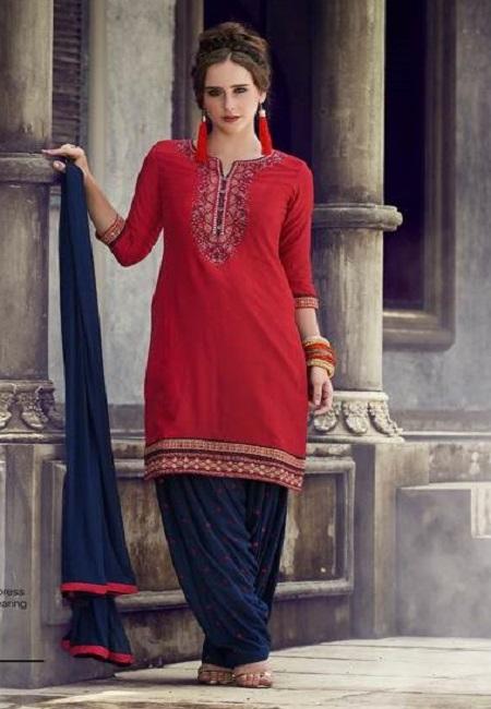 Red Color Designer Salwar Patiala Set (She Salwar 511)