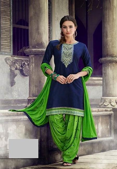 Deep Blue Color Designer Salwar Patiala Set (She Salwar 512)