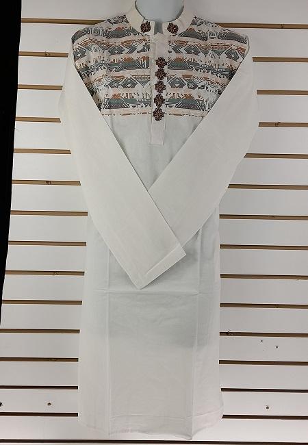 Off White Color Cotton Slim Fit Punjabi (She Boutique Punjabi 501)