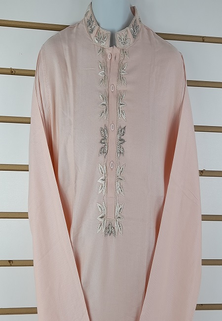 Light Pink Slim Fit Cotton Punjabi (She Boutique Punjabi 502)