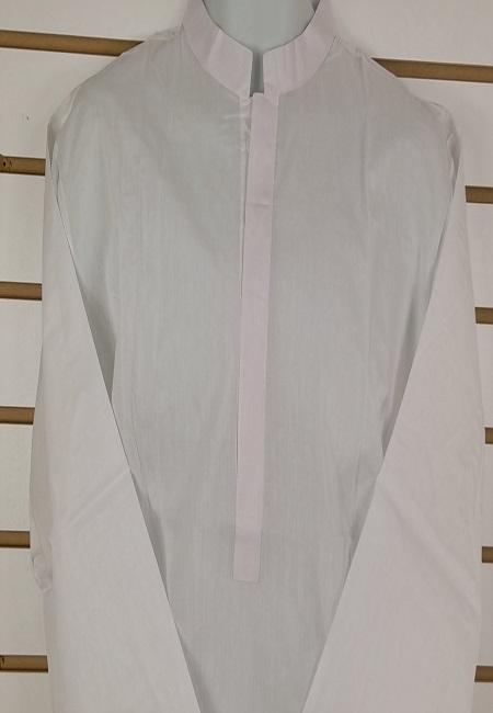 White Color Plain Regular Fit Cotton Punjabi (She Boutique Punjabi 510)