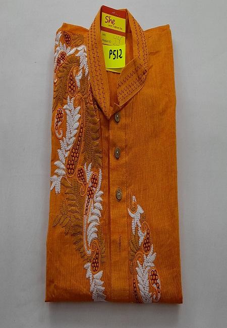 Mustard Color Embroidery Regular Fit Cotton Punjabi (She Boutique Punjabi 512)
