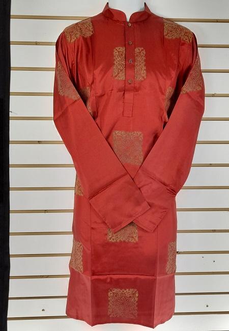Maroon Color Printed Regular Fit Silk Punjabi (She Boutique Punjabi 524)