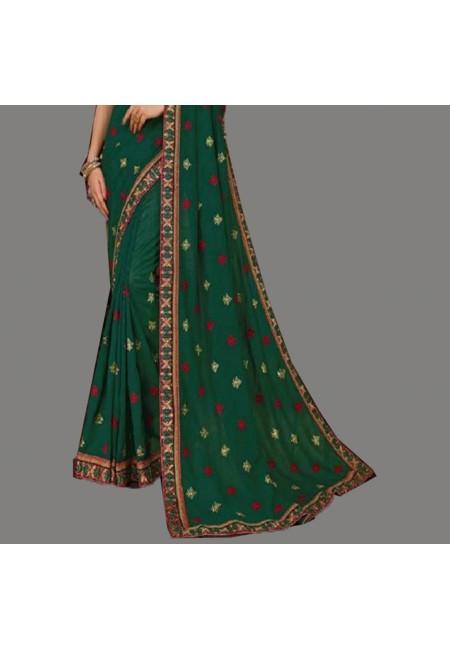 Green Color Designer Silk Saree (She Saree 592)
